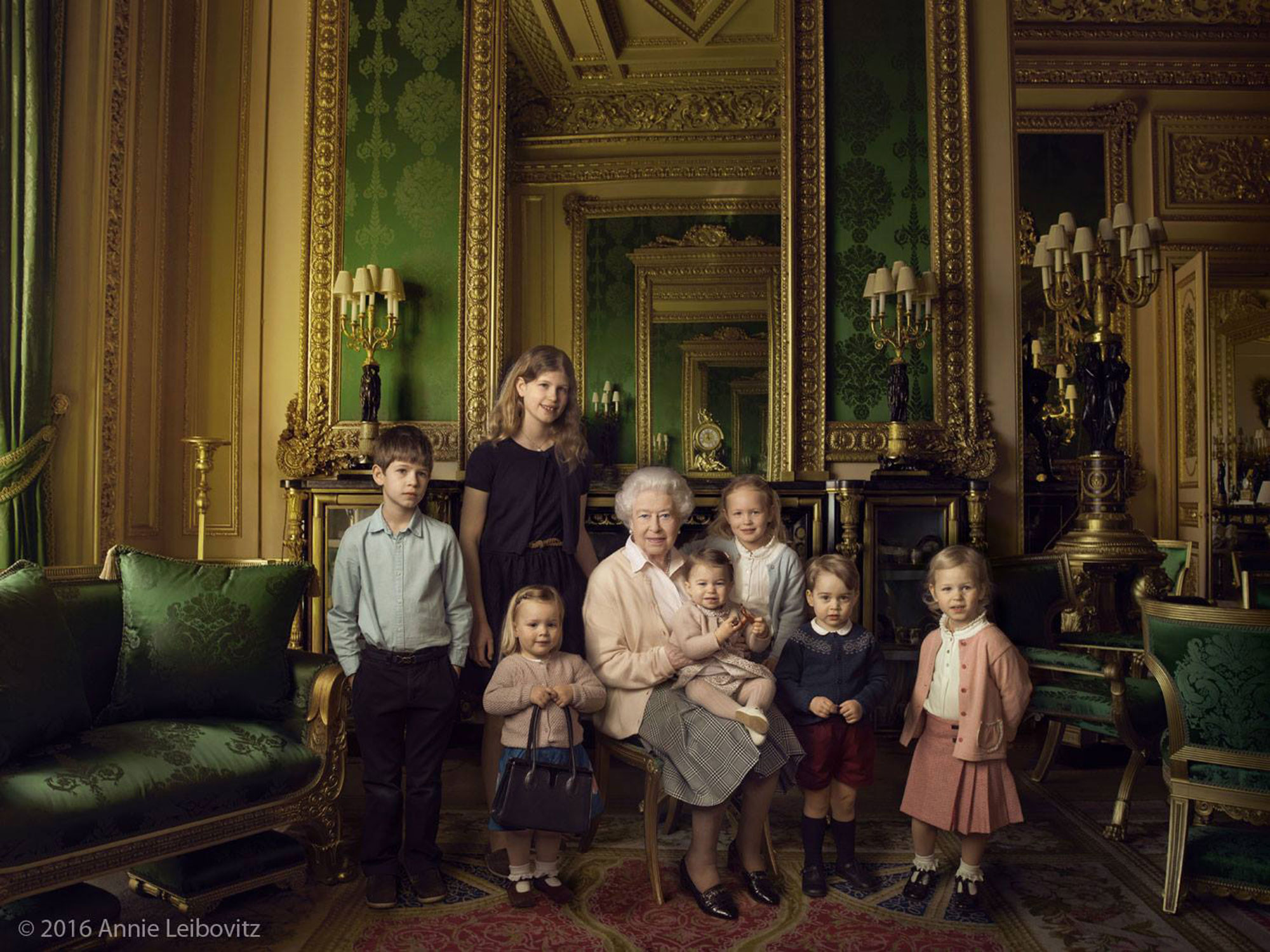 Princess Charlotte and the Queen Are Twinsies in Latest Royal Family Photo