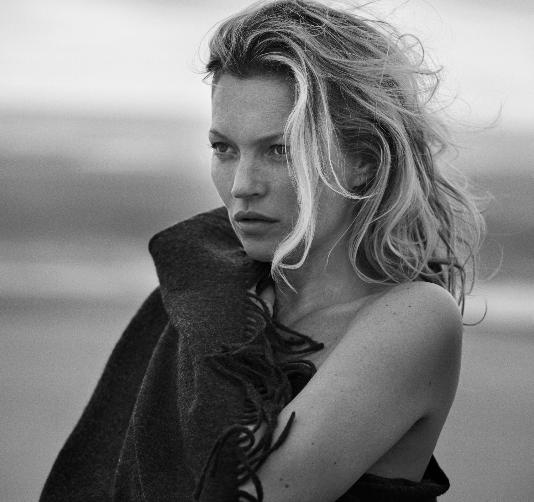 Kate Moss in Naked Cashmere Campaign - Lead