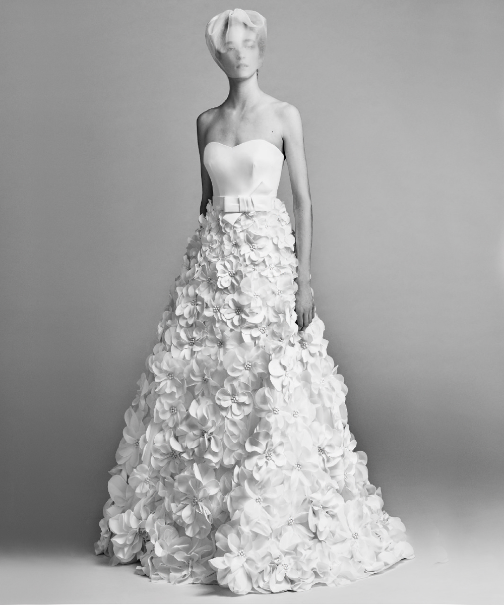 "Viktor & Rolf Launch a ""Flowerbomb"" Wedding Dress Collection and It's Stunning"