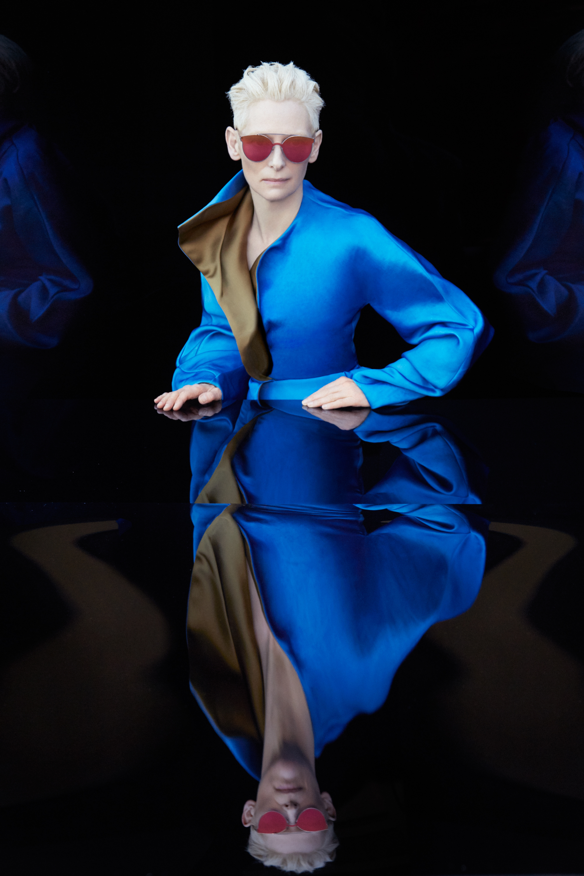 <p>Tilda Swinton for Gentle Monster </p>