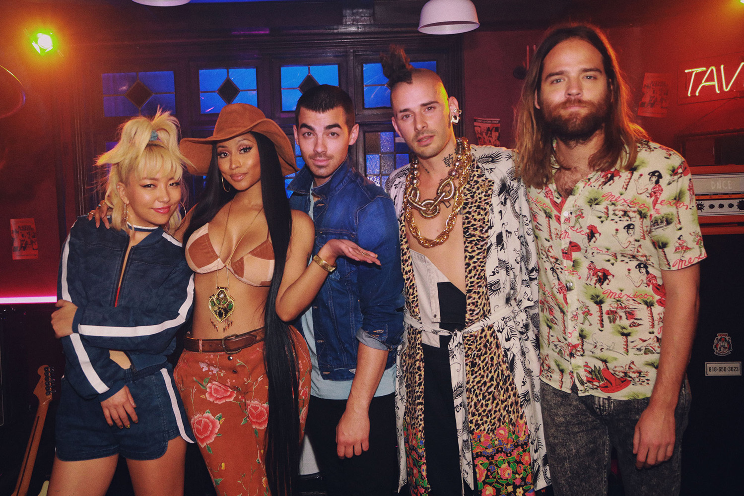 Joe Jonas with Nicki Minaj