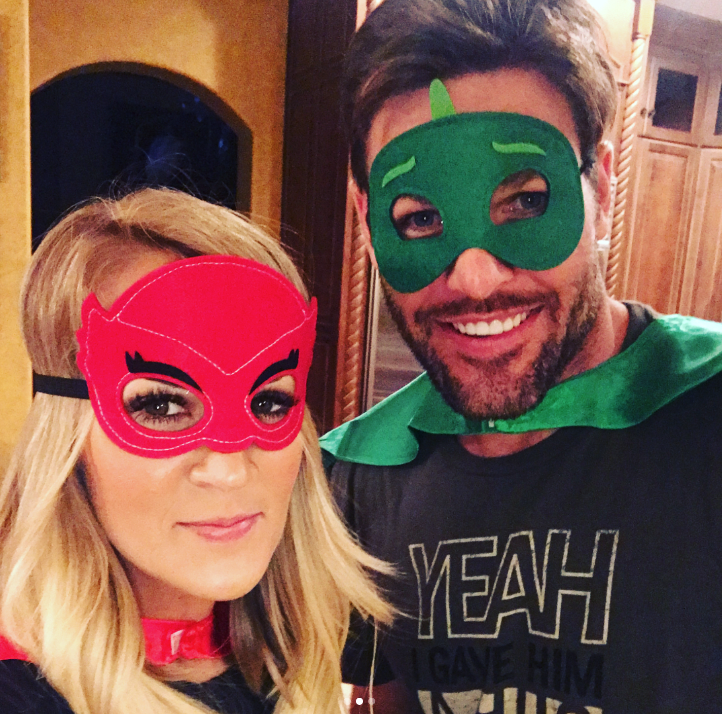 Carrie Underwood Had a Superhero Pajama Party with Her ...