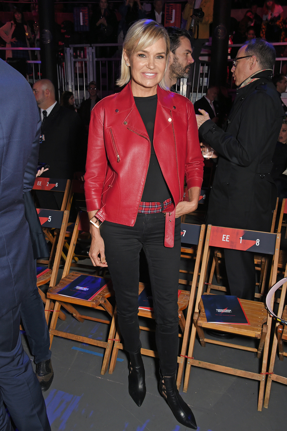 LONDON, ENGLAND - SEPTEMBER 19:  Yolanda Hadid attends the Tommy Hilfiger TOMMYNOW Fall 2017 Show during London Fashion Week September 2017 at The Roundhouse on September 19, 2017 in London, England.  (Photo by David M. Benett/Dave Benett/Getty Images for