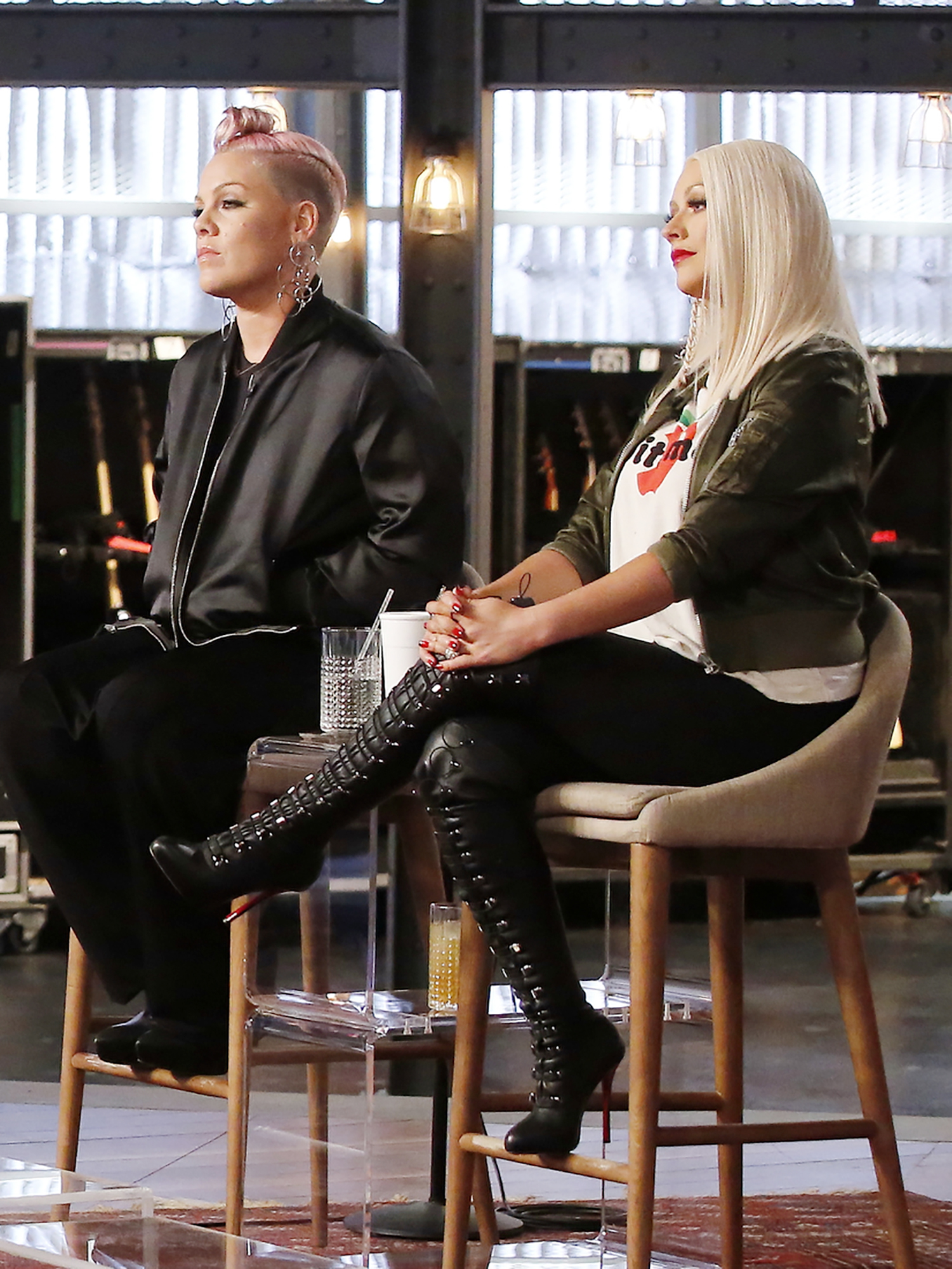 Pink Admits She Once Got Into a Physical Fight with Christina Aguilera