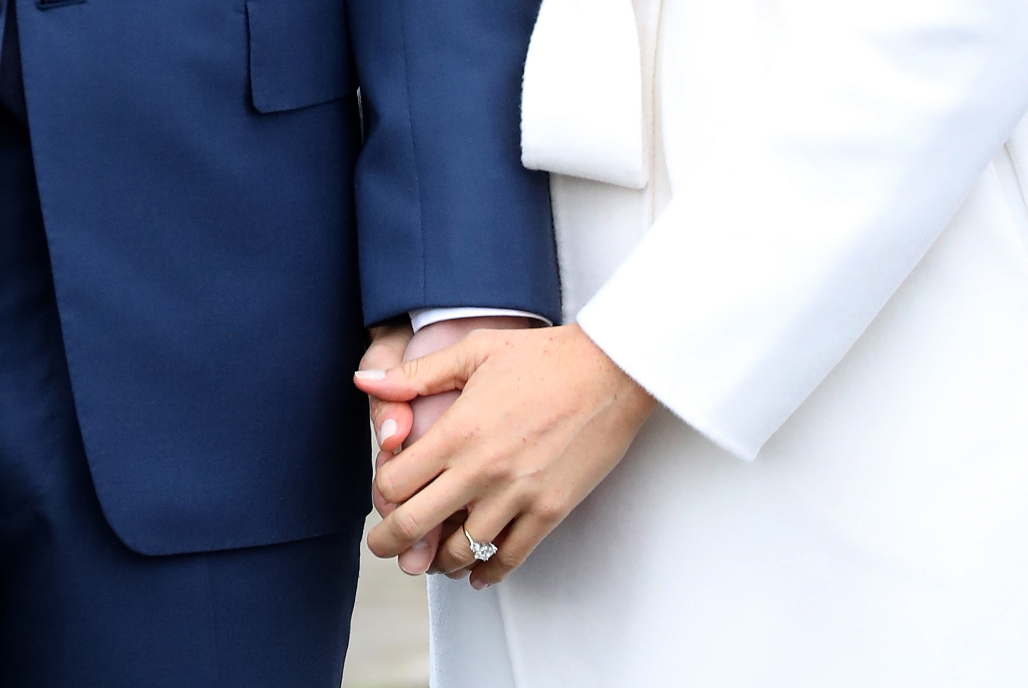 <p>Meghan Markle and Prince Harry Engaged Ring</p>