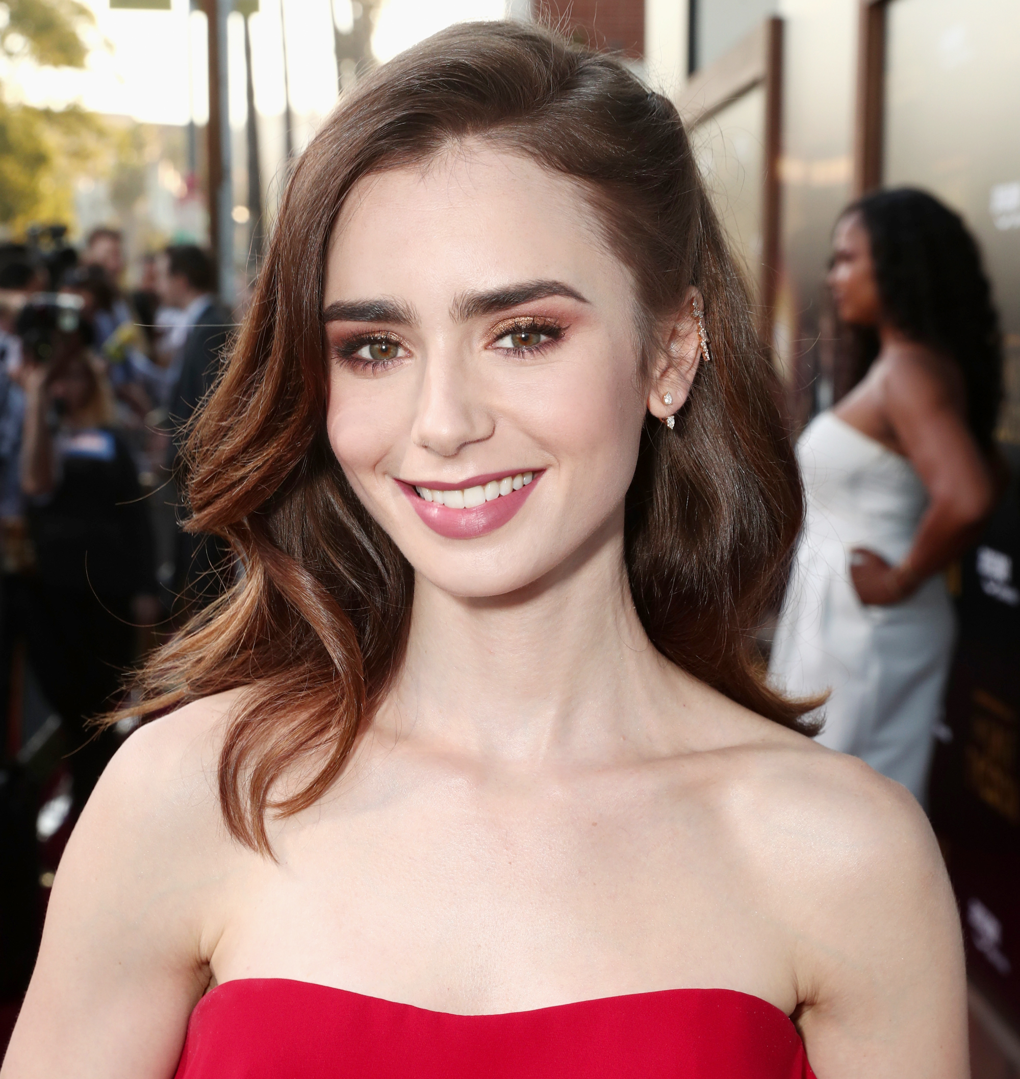 Lily Collins Just Made Her Most Drastic Hair Color Change Yet