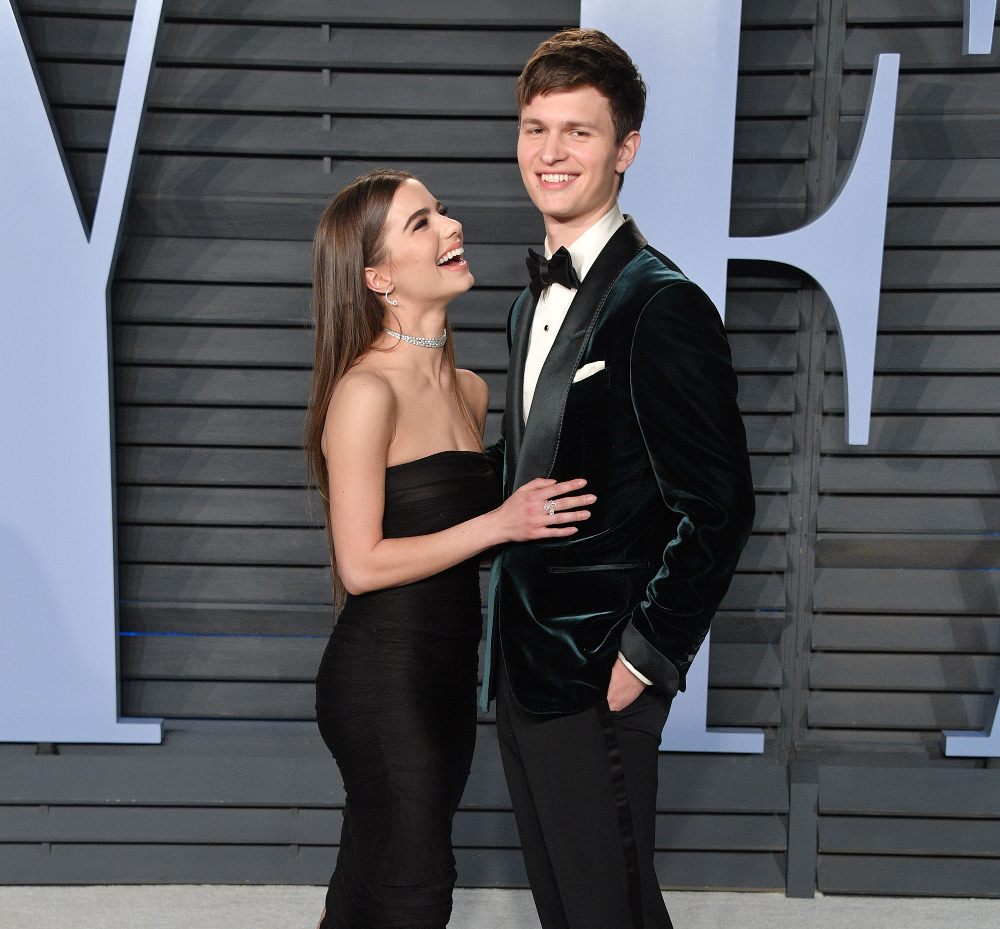 Asnel Elgort and violetta Komyshan at Oscars after Party