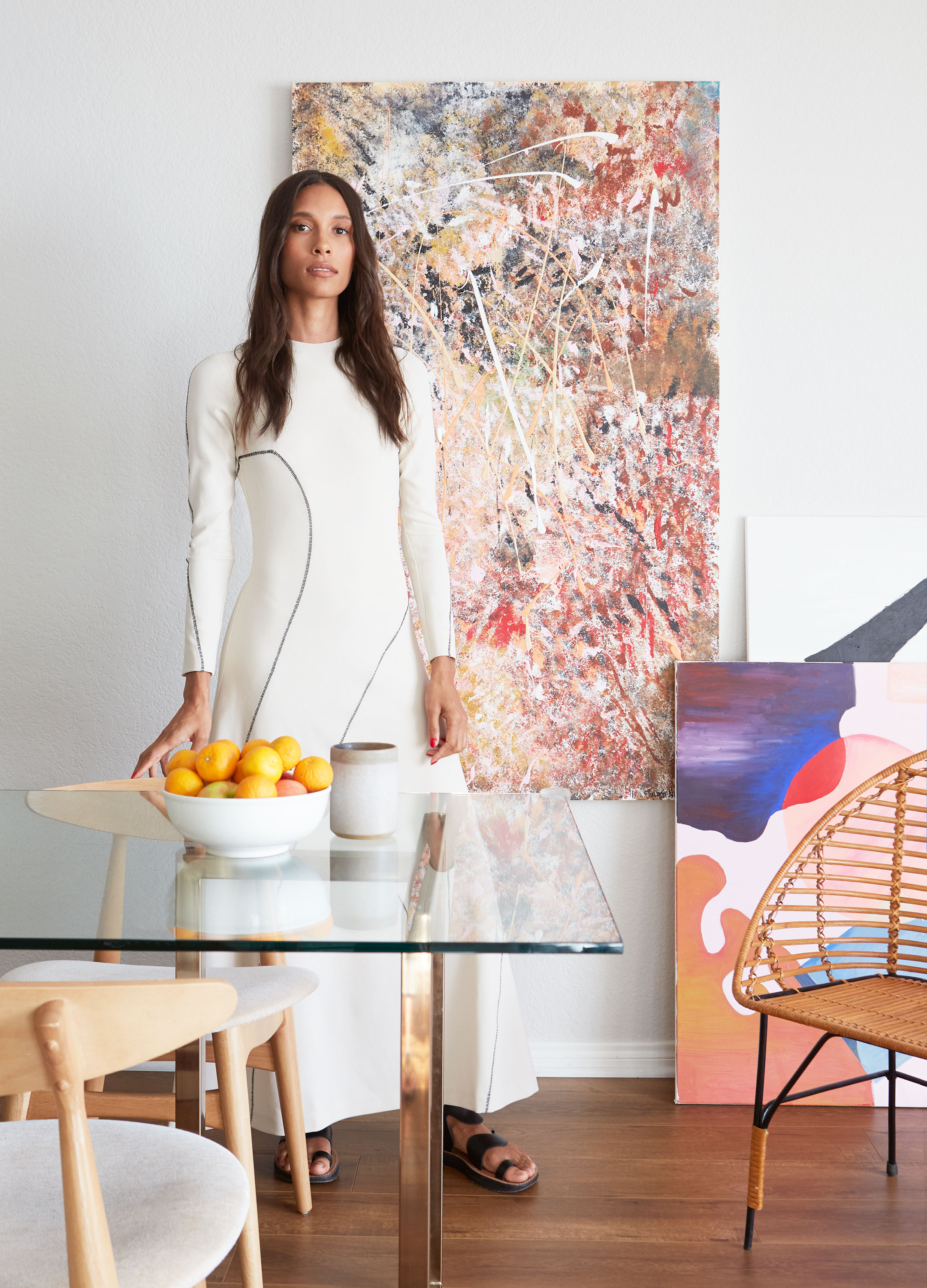 Peek Inside Model TyLynn Nguyen's Artsy Cali Home