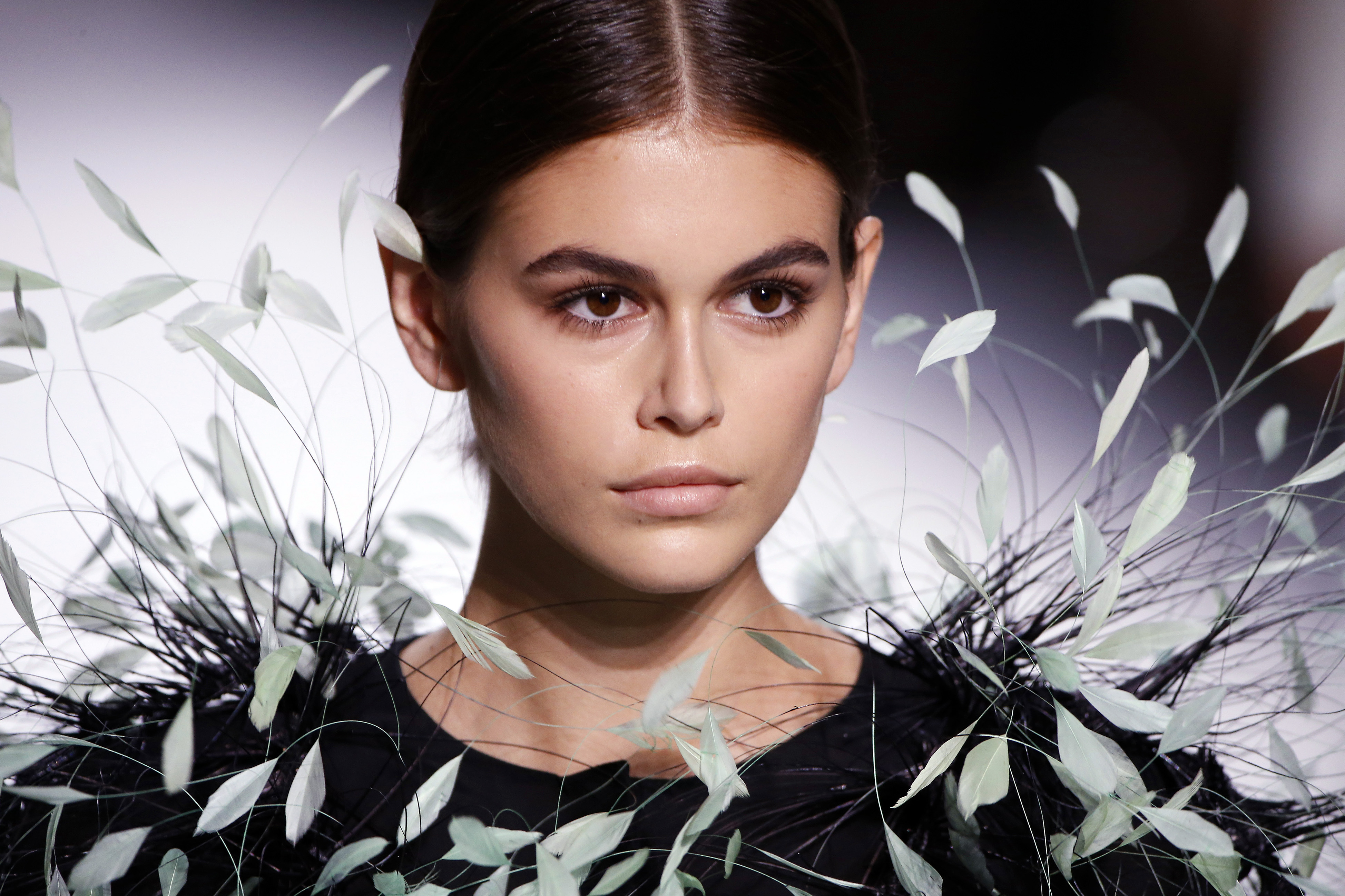 Kaia Gerber Just Went Full Big Bird on the Givenchy Runway