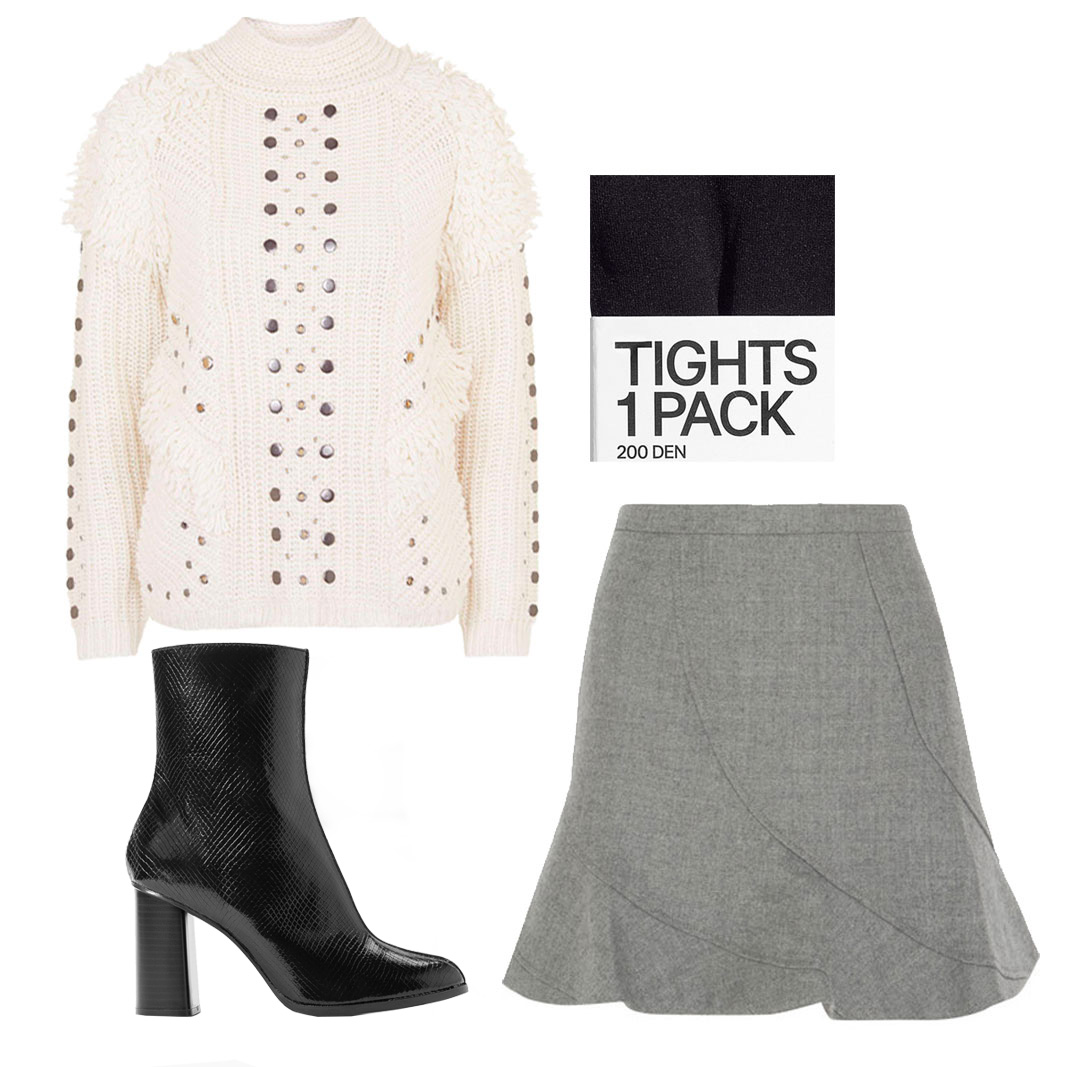 how to wear midi boots in the winter