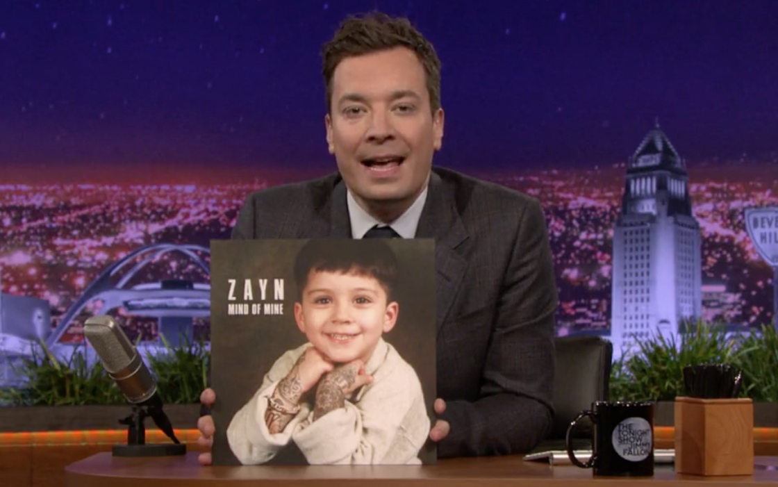 Zayn on Jimmy Fallon Album Cover