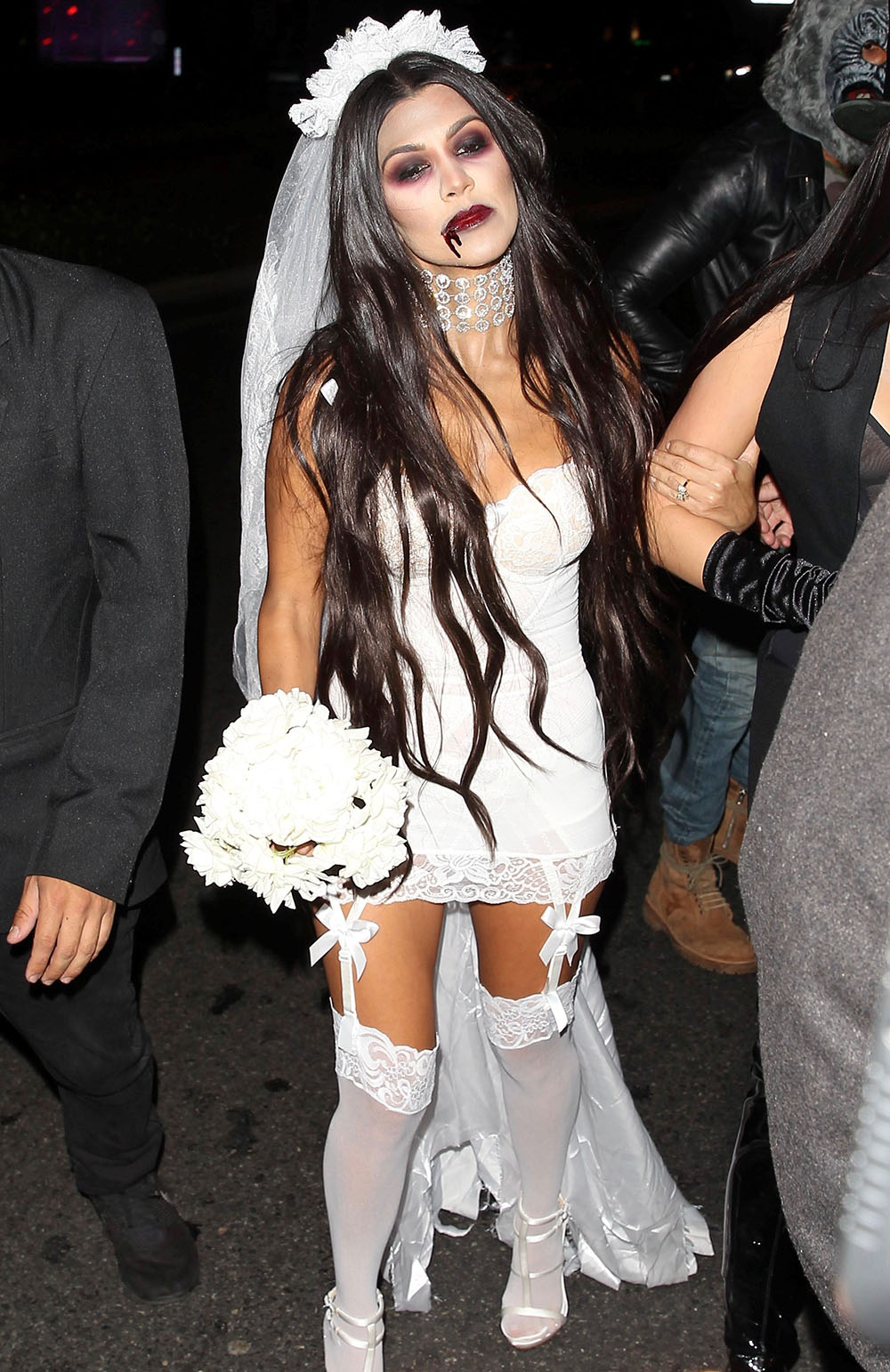 Kourtney Kardashian Makes Her Dead Bride Costume Look Sexy