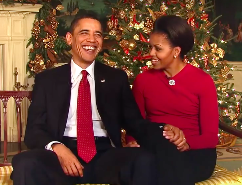 Obamas' final holiday address EMBED