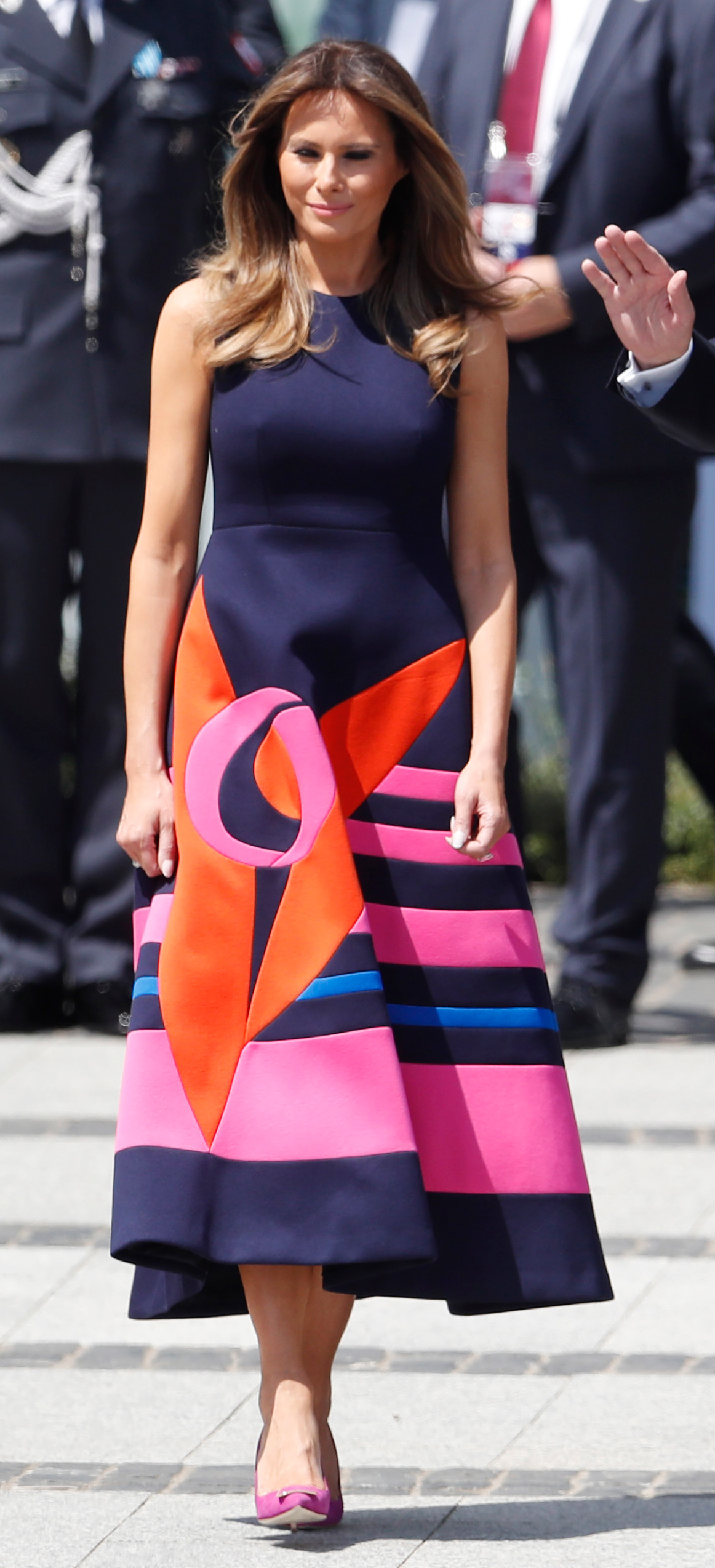 <p>Melania Trump - Warsaw Dress</p>