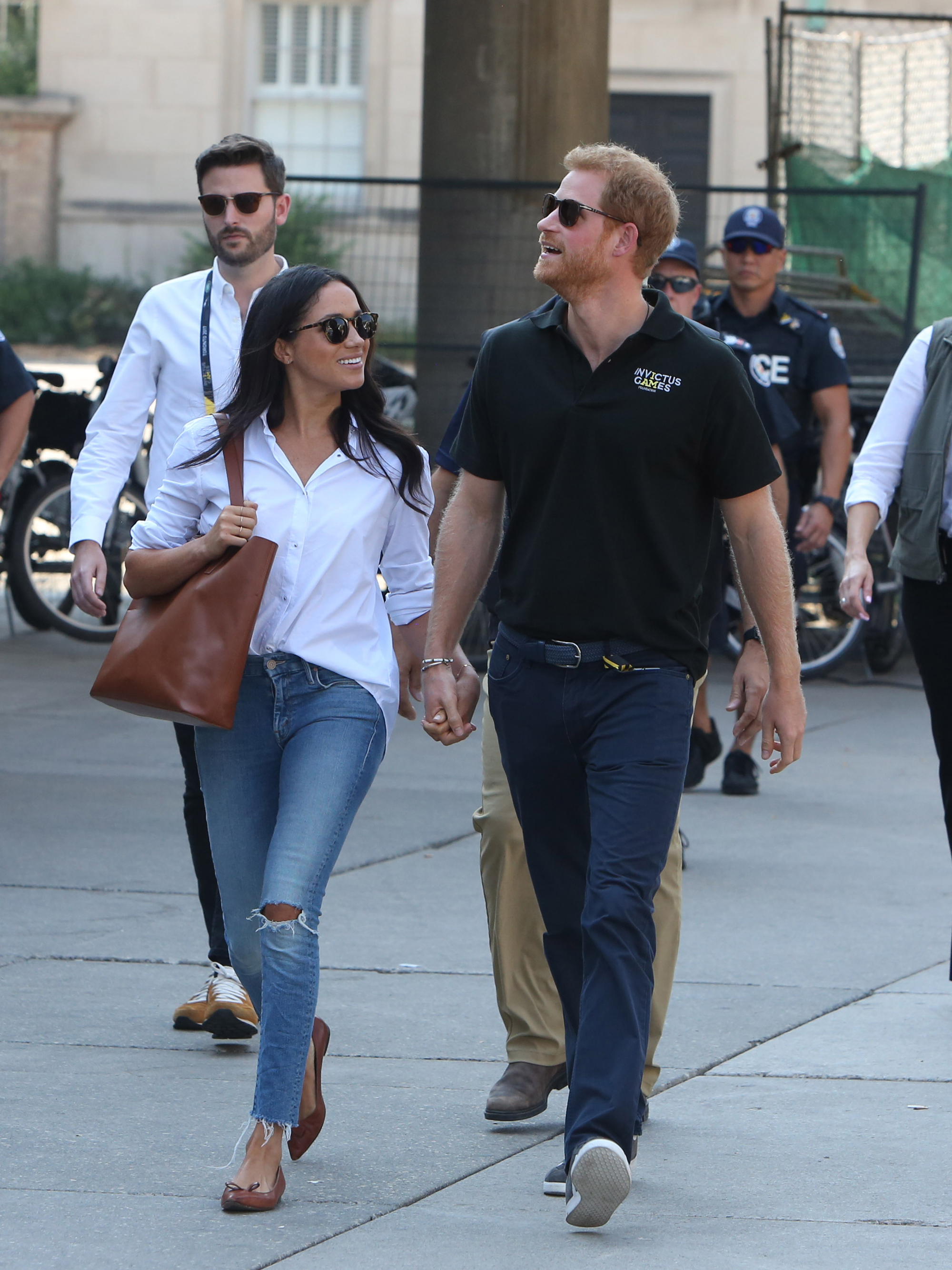 Meghan Markle and Prince Harry Hold Hands in Public, Look Completely Smitten