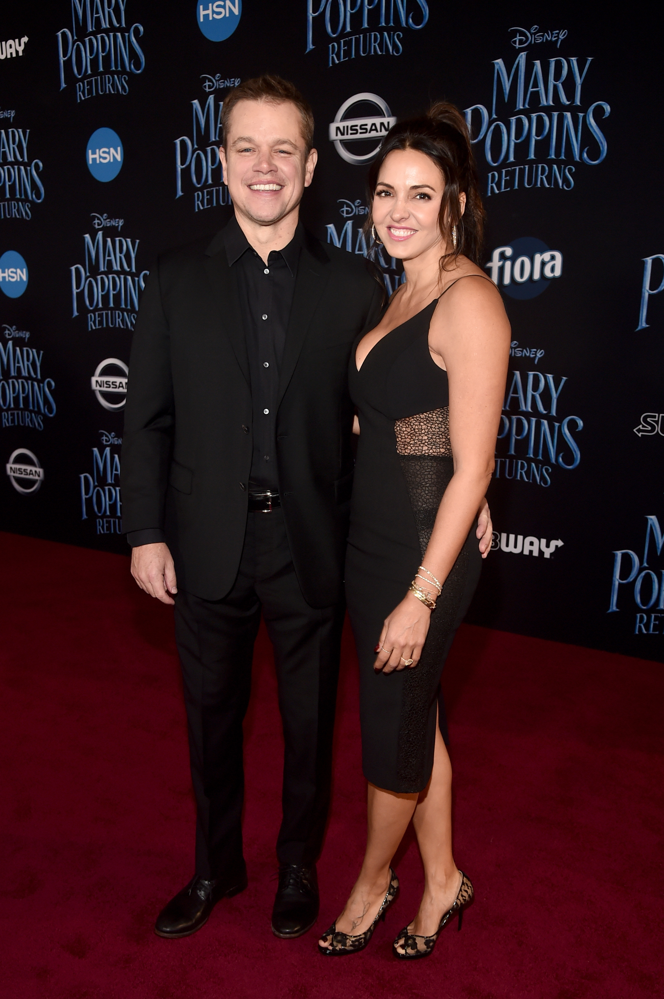 Matt Damon's Wife Luciana Barroso Totally Upstaged Him in the Sexiest LBD