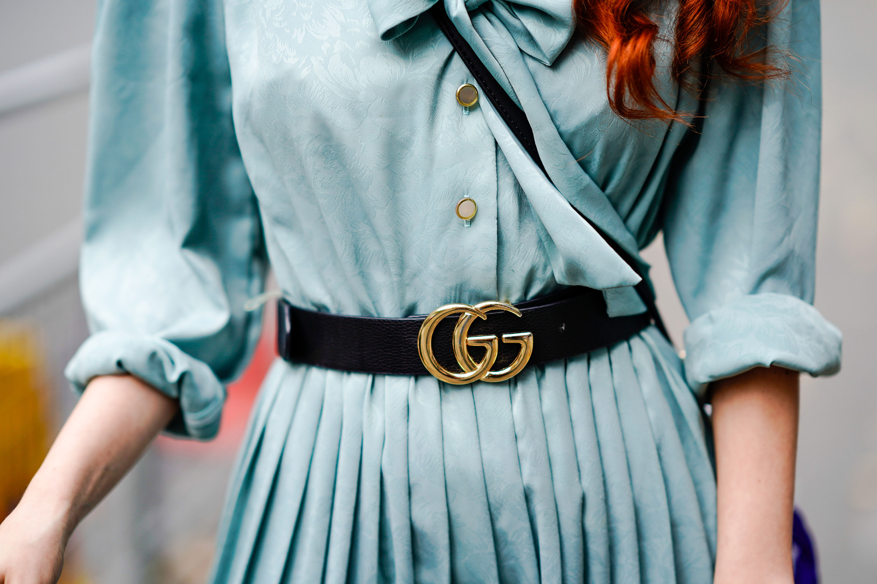 b523f9eee Gucci Belt Mania 2018: The Year the Double G's Took Over | InStyle.com