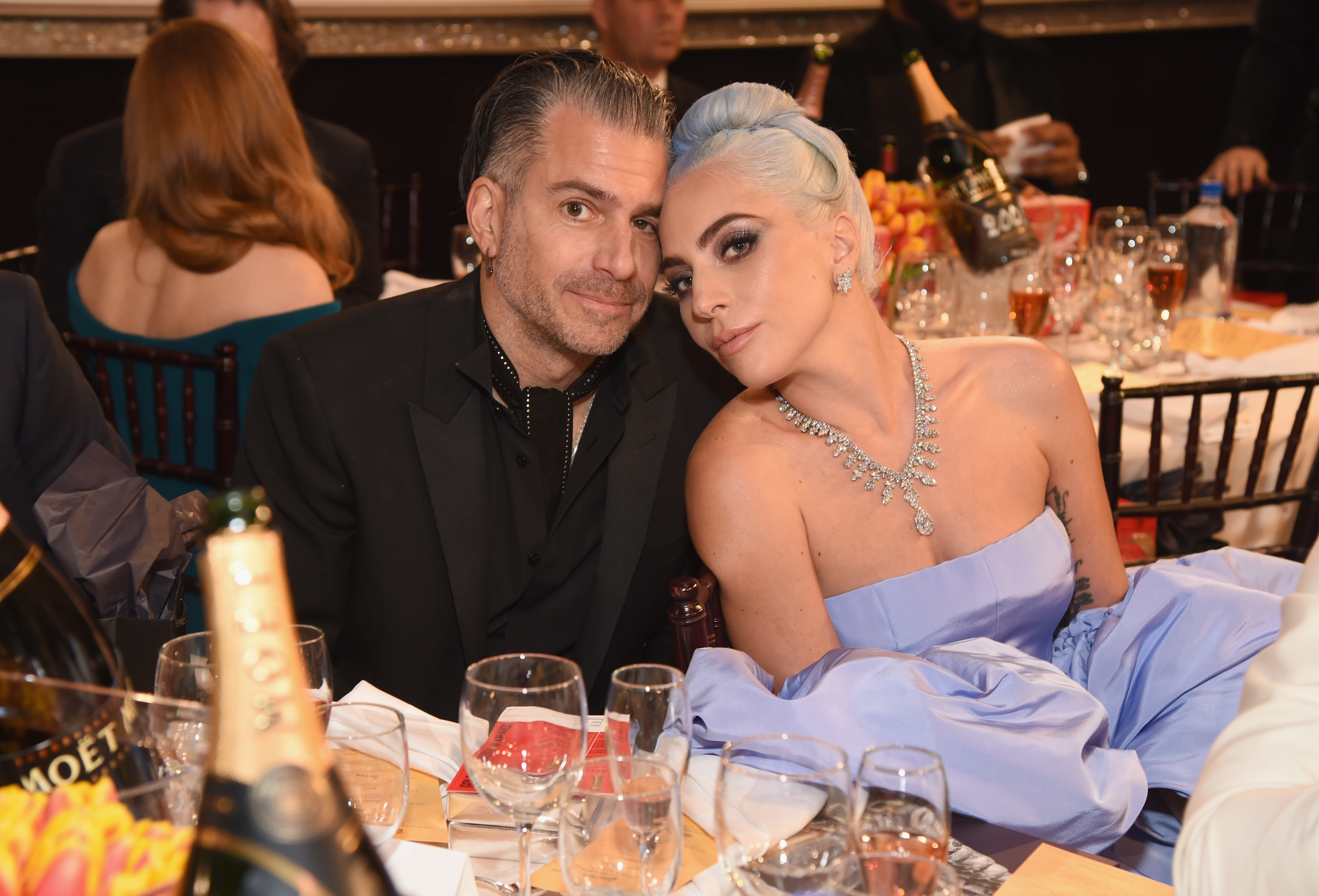 Lady Gaga Celebrated Her Golden Globe Win in Bed with Fiancé Christian Carino