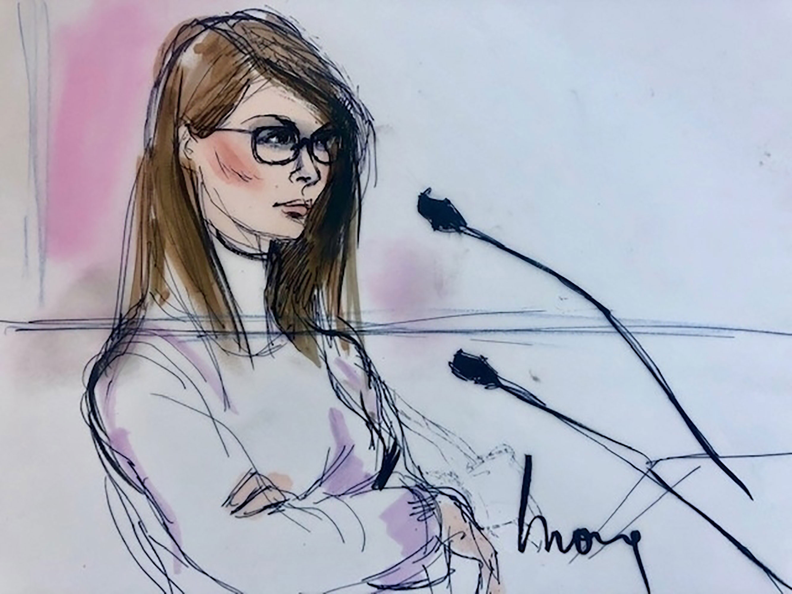 The story behind lori loughlins high drama courtroom sketch