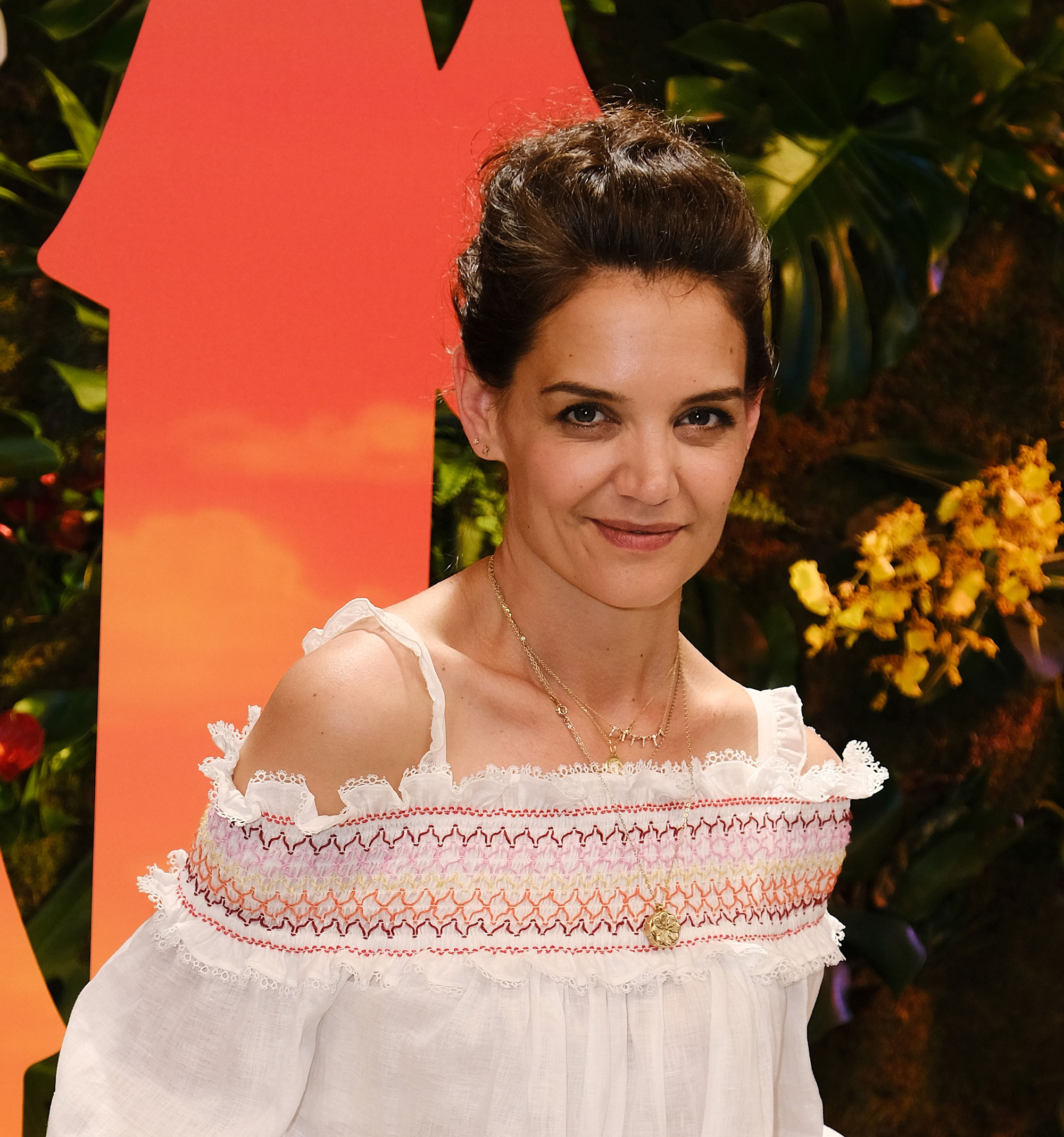 Katie Holmes Looks Totally Different With Big, Voluminous Curls