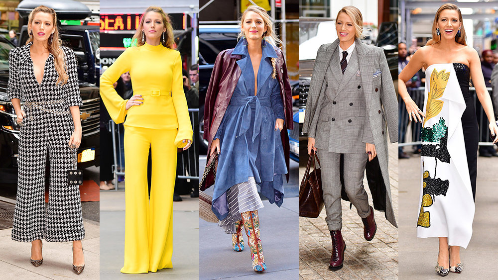 Blake Lively Wore 5 Completely Different Outfits in One Day #Slay