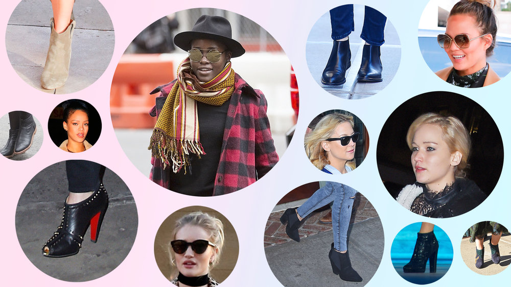 Your Favorite It Girls Demo 10 Stylish Ways to Wear Ankle Boots