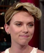 Scarlett Johansson on Late Show with David Letterman