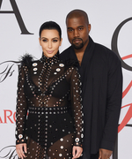Kim Kardashian's Baby Bump Makes Its Red Carpet Debut at the CFDA Awards