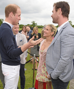 Chris Hemsworth, Elsa Pataky, and Their Daughter Meet the Royals