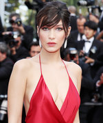 See Bella Hadid's Red Hot Dress with a Sky-High Slit from Every Single Angle
