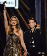 Celine Dion's Son Rene-Charles Snags a Snap with Rihanna at the Billboard Music Awards