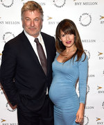 Hilaria Baldwin Shows Off Her Baby Bump in a Body-Hugging Dress