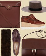 Accessories Alert: Brown Is the New Black for Fall