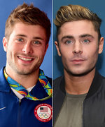 Zac Efron and His Olympic Dopplegänger Mesmerize Us in One Incredible Photo