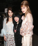 Gigi and Bella Hadid Stun in a Flurry of Anna Sui Runway Looks at NYFW