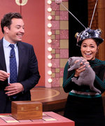 Watch Gina Rodriguez Act Like a Robot While Holding an Adorable Kitten with Samuel L. Jackson