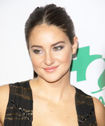 Shailene Woodley Looks Like a Goddess in a Plunging Metallic and Black Dress