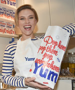 Scarlett Johansson Does French Chic at the Opening of Her New Popcorn Shop in Paris