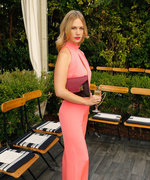 January Jones's Daring Peach Jumpsuit Strikes the Perfect Sexy-Chic Note