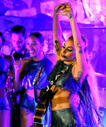 Lady Gaga's Final Dive Bar Concert Brought Out All the Glitter: Watch It Here