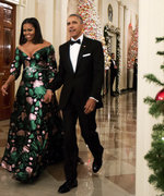 Michelle Obama Caps Off 8 Years of Holiday Style in Festive Green Gown