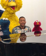 John Legend Is Dad of the Year with Sesame Street Shout-Out to Luna
