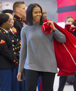 Michelle Obama Makes One Stylish Santa in Cozy Winter Look