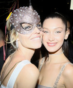 Bella Hadid Wears a Completely Sheer Gown at Dior's Masquerade Ball