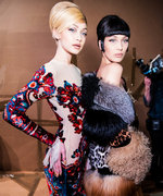 Gigi and Bella Hadid Are Unrecognizable on the Moschino Runway
