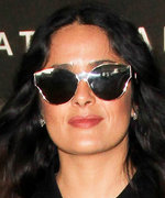 Salma Hayek's Air Travel Ensemble Marries Comfort and Style