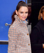 Pretty in Plaid—Katie Holmes's Latest Look Has Us Pattern-Ready