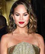Chrissy Teigen Narrowly Avoids a Wardrobe Malfunction