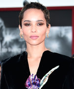 Zoë Kravitz's Crushed Velvet Minidress Is Very '80s