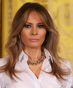Melania's Shoe Designer Defends Her Harvey Trip Heels